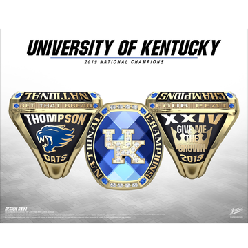 University of Kentucky Coed Cheer 2019 National Championship Ring