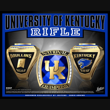 University of Kentucky Coed Rifle 2018 National Championship Ring