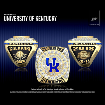 University of Kentucky Men's Basketball 2018 SEC Championship Ring