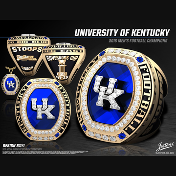 University of Kentucky Men's Football 2016 SEC East Championship Ring
