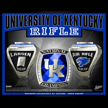 University of Kentucky Men's Rifle 2018 National Championship Ring