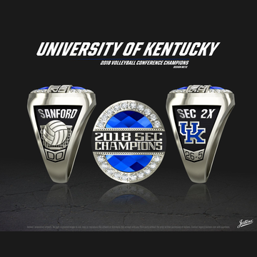 University of Kentucky Women's Volleyball 2018 SEC Championship Ring