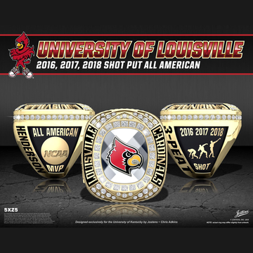 University of Louisville Men's Track & Field 2018 All American Championship Ring