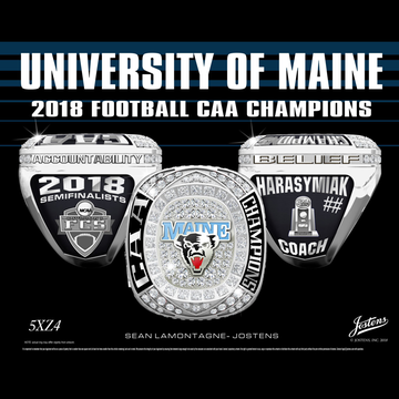 University of Maine Men's Football 2018 CAA Championship Ring