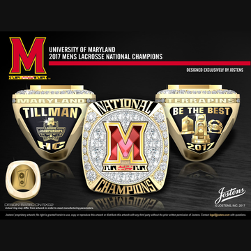 University of Maryland Men's Lacrosse 2017 National Championship Ring