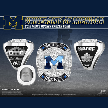 University of Michigan Men's Ice Hockey 2018 Frozen Four Championship Ring