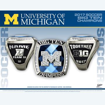 University of Michigan Men's Soccer 2017 Big Ten Championship Ring