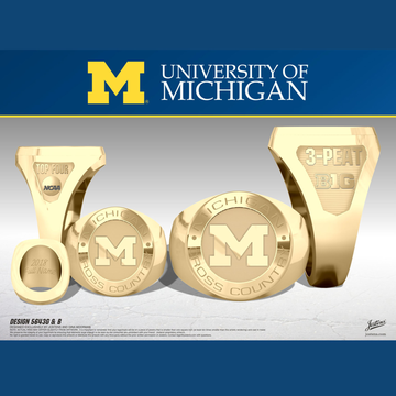 University of Michigan Women's Cross Country 2018 Big Ten Championship Ring