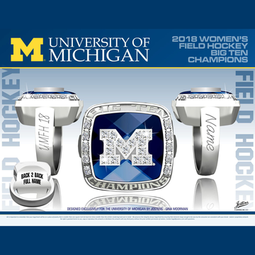 University of Michigan Women's Field Hockey 2018 Big Ten Championship Ring