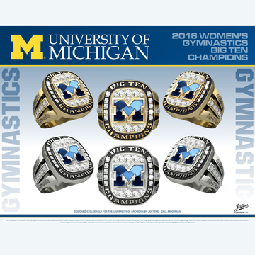 University of Michigan Women's Gymnastics 2016 Big Ten Championship Ring