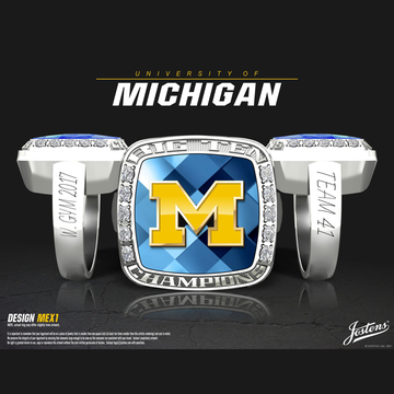 University of Michigan Women's Gymnastics 2017 Big Ten Championship Ring