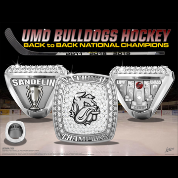 University of Minnesota Duluth Men's Ice Hockey 2019 National Championship Ring