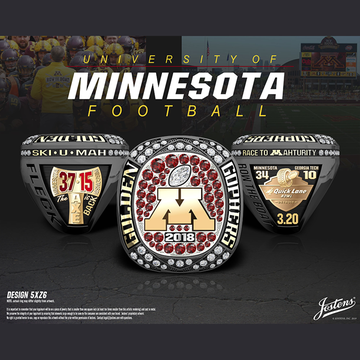 University of Minnesota Men's Football 2018 Quick Lane Bowl Championship Ring