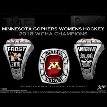 University of Minnesota Women's Ice Hockey 2018 WCHA Championship Ring