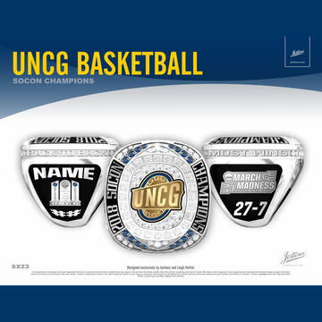 University of North Carolina Greensboro Men's Basketball 2018 SoCon Championship Ring