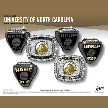 University of North Carolina Pembroke Men's Basketball 2018 Peach Belt Championship Ring