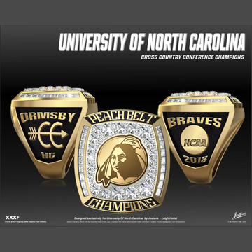 University of North Carolina Pembroke Men's Cross Country 2018 Peach Belt Championship Ring