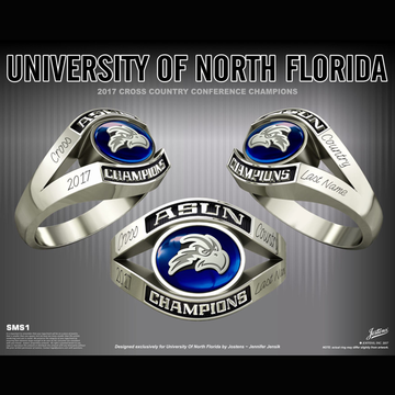 University of North Florida Women's Cross Country 2017 ASUN Championship Ring