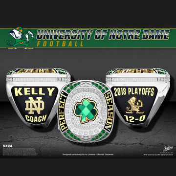 University of Notre Dame Men's Football 2018 Championship Ring