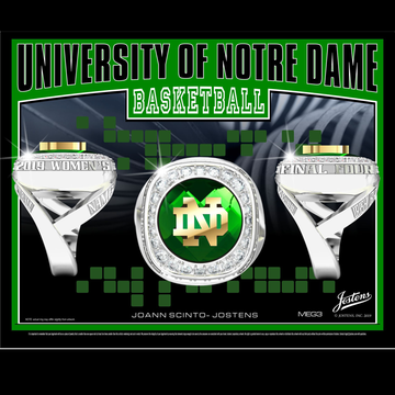 University of Notre Dame Women's Basketball 2019 Final Four Championship Ring