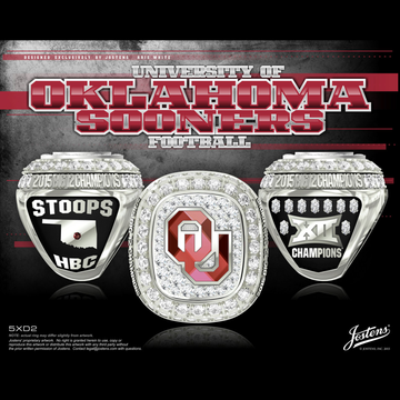 University of Oklahoma Men's Football 2015 Big 12 Championship Ring