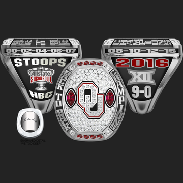 University of Oklahoma Men's Football 2016 Big 12 Championship Ring