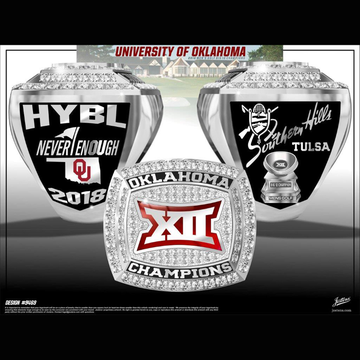 University of Oklahoma Men's Golf 2018 Big 12 Championship Ring