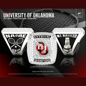 University of Oklahoma Men's Tennis 2017 National Championship Ring