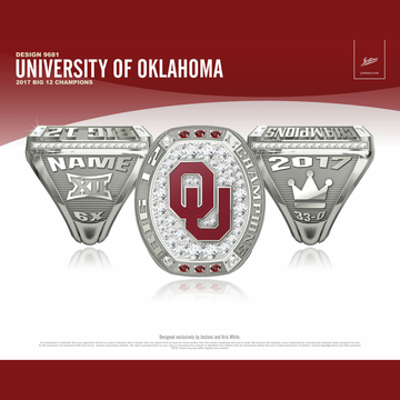 University of Oklahoma Men's Track & Field 2017 Big 12 Championship Ring