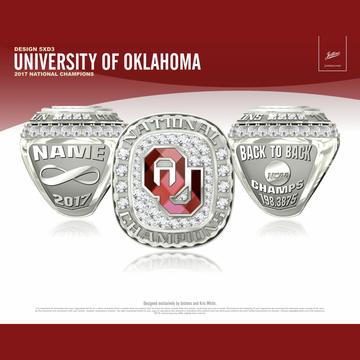University of Oklahoma Women's Gymnastics 2017 National Championship Ring