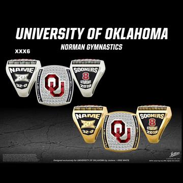 University of Oklahoma Women's Gymnastics 2019 Big 12 Championship Ring