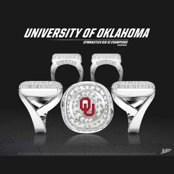 University of Oklahoma Women's Gymnastics 2019 Big 12 Championship Ring