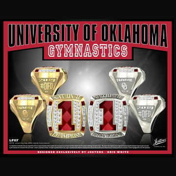 University of Oklahoma Women's Gymnastics 2019 National Championship Ring