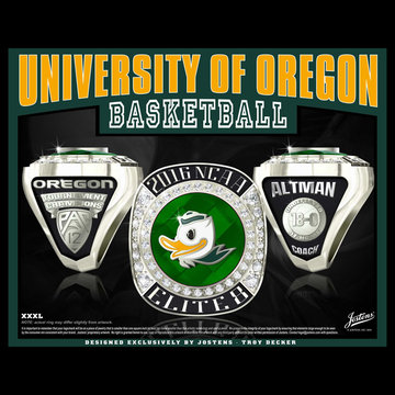 University of Oregon Men's Basketball 2016 Elite 8 Championship Ring