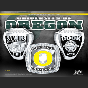 University of Oregon Men's Basketball 2016 Pac-12 Championship Ring