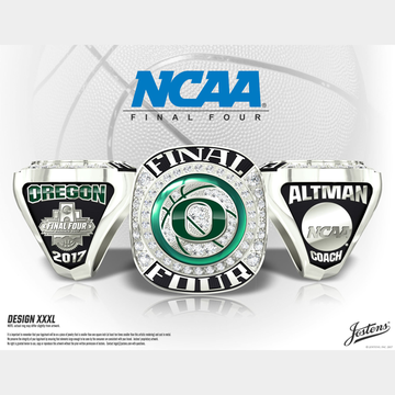 University of Oregon Men's Basketball 2017 Final Four Championship Ring
