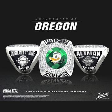 University of Oregon Men's Basketball 2017 Pac-12 Championship Ring