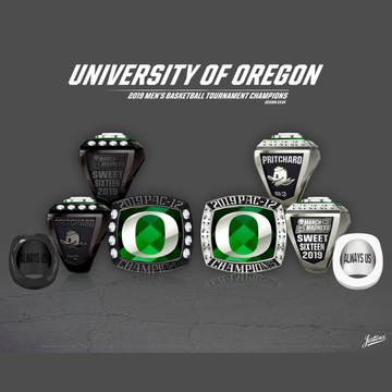 University of Oregon Men's Basketball 2019 Pac-12 Championship Ring