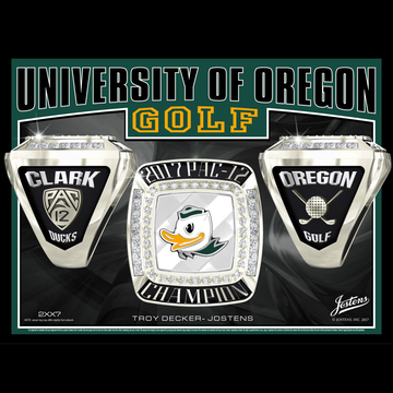 University of Oregon Men's Golf 2017 Pac-12 Championship Ring