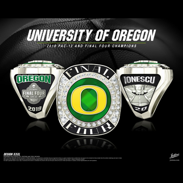 University of Oregon Women's Basketball 2019 Final Four Championship Ring
