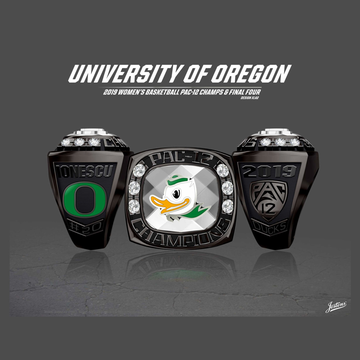 University of Oregon Women's Basketball 2019 Pac-12 Championship Ring