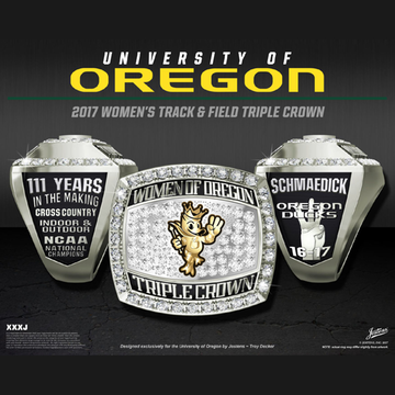 University of Oregon Women's Track & Field 2017 National Championship Ring