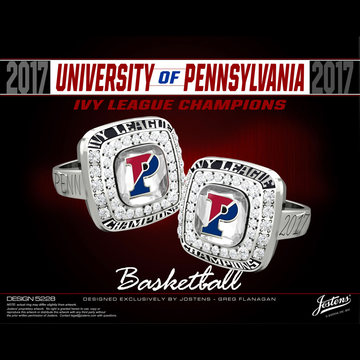 University of Pennsylvania Women's Basketball 2017 Ivy League Championship Ring