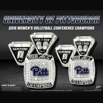 University of Pittsburgh Women's Volleyball 2018 ACC Championship Ring