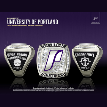 University of Portland Men's Cross Country 2017 National Runner-Up Championship Ring