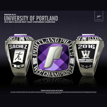 University of Portland Men's Soccer 2016 WCC Championship Ring