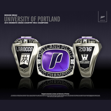 University of Portland Women's Cross Country 2016 WCC Championship Ring