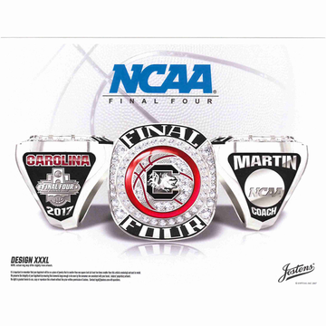 University of South Carolina Men's Basketball 2017 Final Four Championship Ring