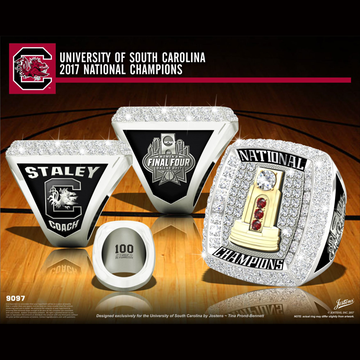 University of South Carolina Women's Basketball 2017 National Championship Ring