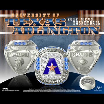 University of Texas Arlington Men's Basketball 2017 Sun Belt Championship Ring